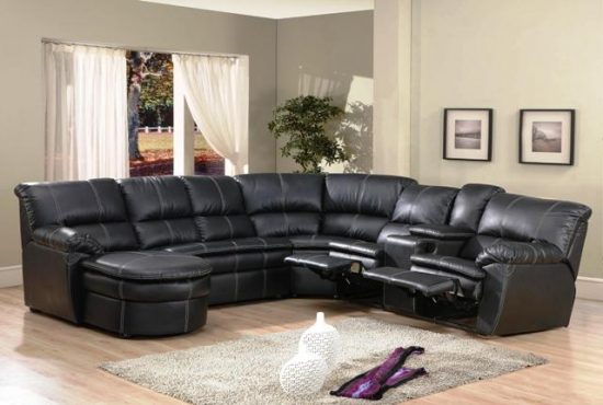 Distressed black leather sofas for a timeless beauty and elegance
