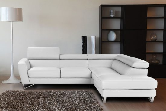 Do you dare to furnish your small space with 2017 white leather sofas?