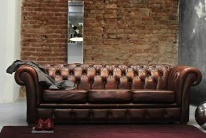 What goes well with brown leather sofa for 2018 trendy look!