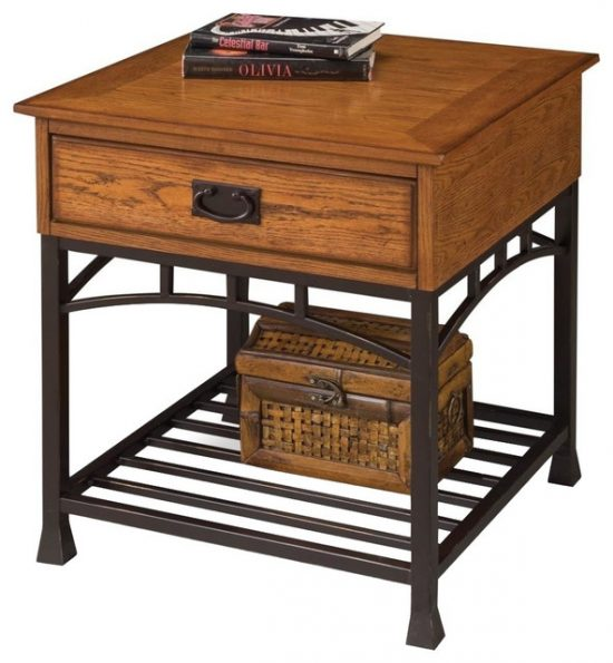 Antique end tables add a glamorous touch of beauty to your living space