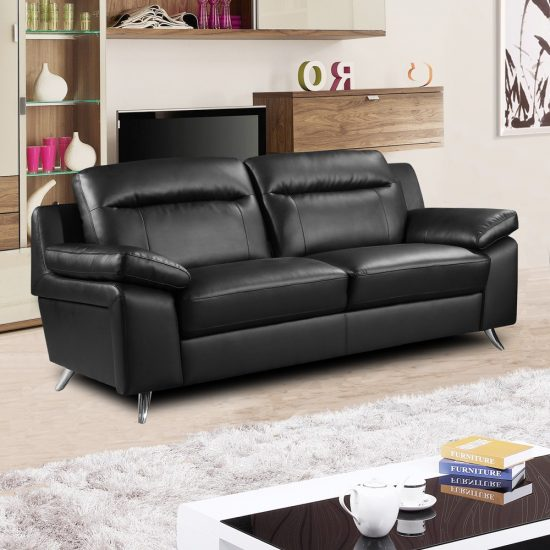 Black Leather Sofa A magical touch of style for every home in 2017
