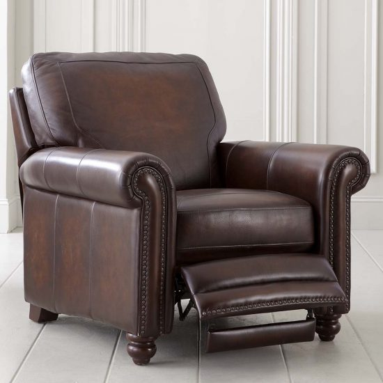 Leather reclining chairs Chic addition with extreme comfort for living space and offices