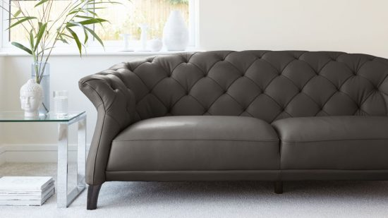 ... Grey Chesterfield Sofa; A Stunning Elegance And Hormonally Beauty With  Softness